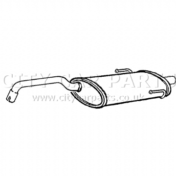 FIAT 500 312 1.2 MODELS 2007 TO 12/2011 EXHAUST SILENCER REAR BACK BOX EXFT6009